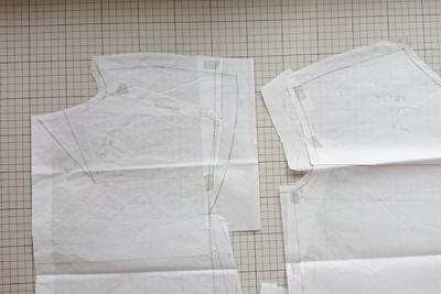 切り貼りした型紙