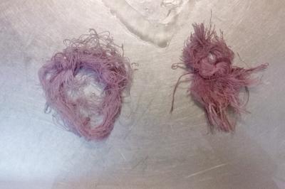 ミシン糸を染めた後