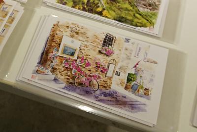 新井美樹さんの水彩画の絵葉書