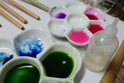 インクで色を作るお皿