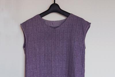 紫根染めフレンチスリーブ
