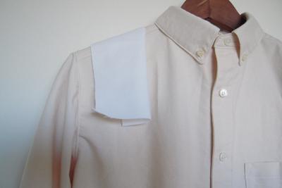 ブルーベリー落ち葉染めのボタンダウンシャツ
