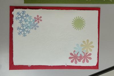 完成したクリスマスカード