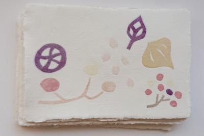 草木染め紙すきハガキ