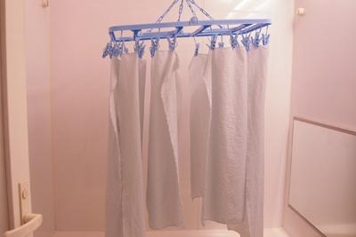 洗濯物干しで自然乾燥