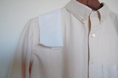 ブルーベリー落ち葉染めシャツ