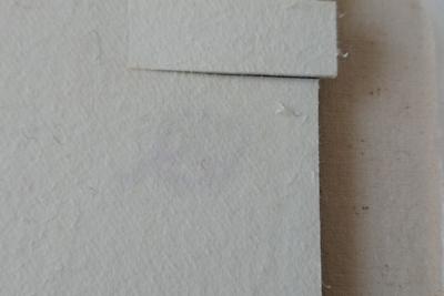 押し板に染め色の跡