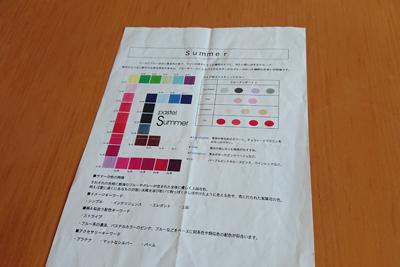 サマーの特徴説明用紙