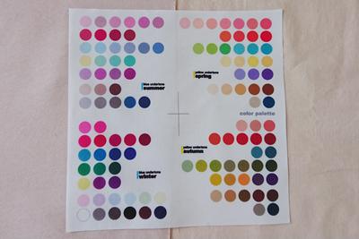 パーソナルカラーとピンク染め布の比較