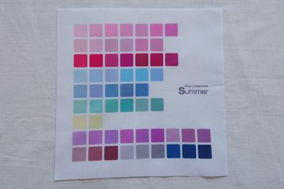 パーソナルカラーサマーの色見本