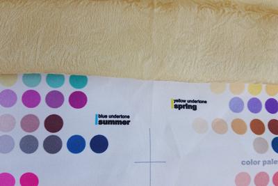 ザクロ染めをパーソナルカラーと比較
