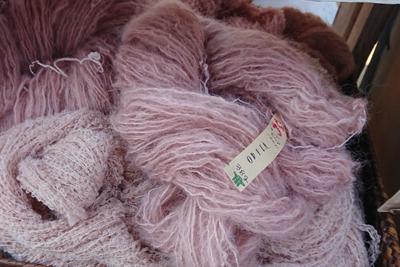ビワ染めの毛糸