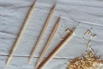 竹製の箸と木製の箸