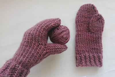 草木染めの手袋