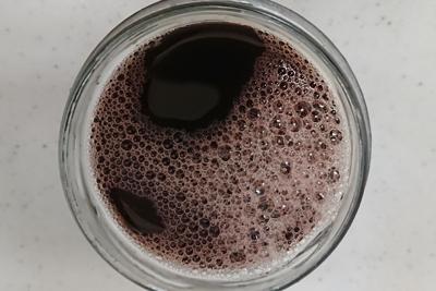 ソメイヨシノ重曹入りの一番液