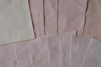 八重桜染めテストのシーチング