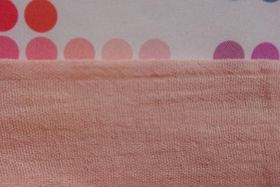 八重桜で染めたコットンストールの色