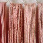 桜染めの木綿糸と絹糸