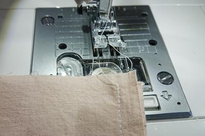 ミシンで縫う
