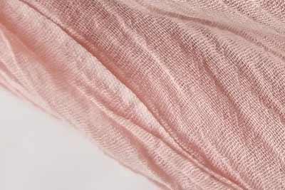 コットンの桜染めの色