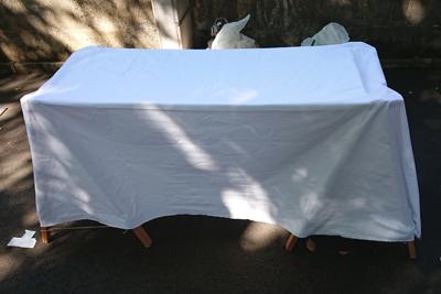 ハンドメイドマルシェ用の持ち運びテーブル