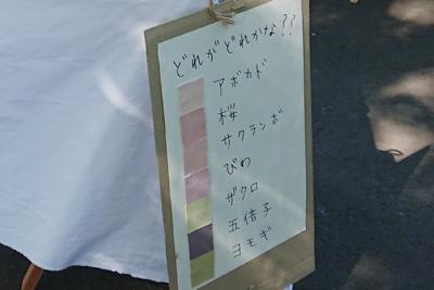 草木染めの色一覧表