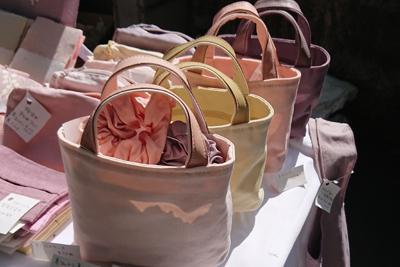 草木染めのお昼休み用ミニトートバッグ