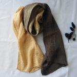 ヤシャブシ染めのシルクスカーフ
