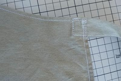 ウエスト紐を縫いつけ
