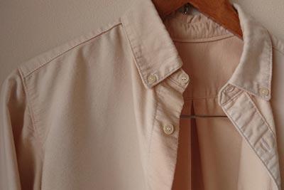 ブルーベリー染めシャツの退色