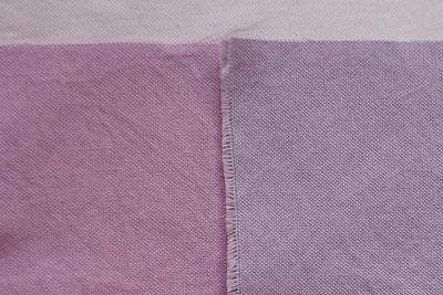 ブルーベリー染めテスト赤紫と青紫