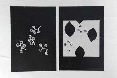 草木染め用紗張りの型紙