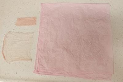 無媒染の紫芋染めコットン生地