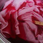 紫芋染めでの木綿染色