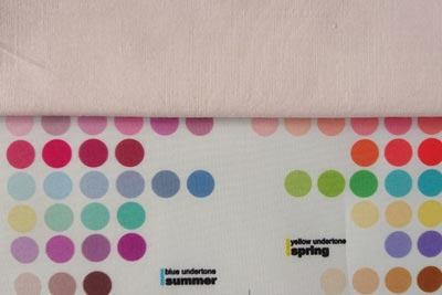 紫芋染めのパーソナルカラーとの比較