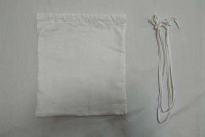 オックスフォード生地の巾着袋