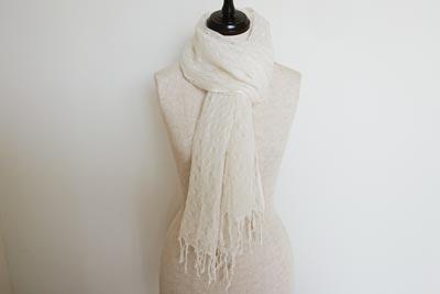 織り模様入りシルクストール