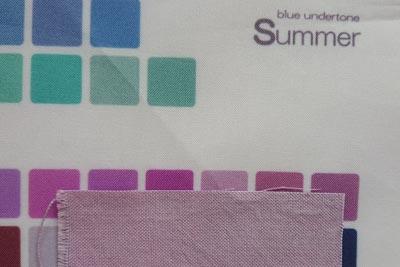 ブルーベリー染め赤紫とサマー色見本