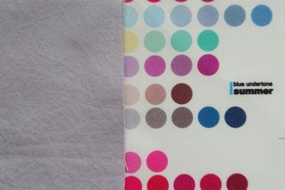ブルーベリー染め青紫とサマー色見本