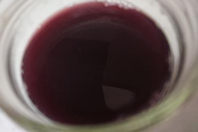 ブルーベリーの実の染液