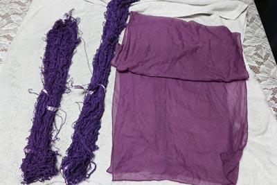 木綿糸とシルクのストール