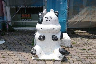 清里駅前の牛
