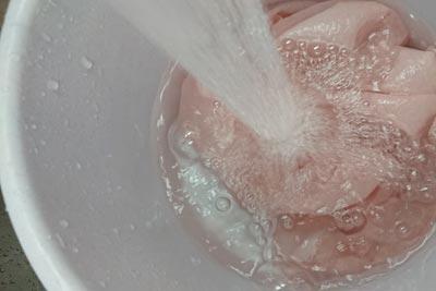 最後の水洗い