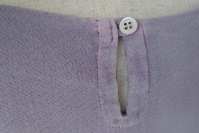 ログウッド染めシャツの色むら