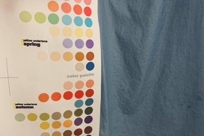 濡れた状態の色とパーソナルカラー