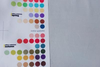 乾燥後のクチナシブルー染めパーソナルカラー