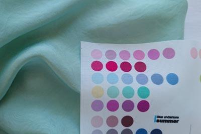 生葉染めのパーソナルカラー