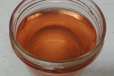 アボカド皮の染液2番液酸化前