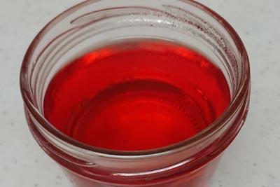 アボカド種の染液1番液酸化5分後