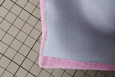 ベンツ部分の裾をシュミレーション